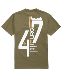 Lrg Men's Graphic Print T Shirt Military Green