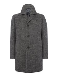 Chester Barrie Men's Bayswater Check Topcoat Grey