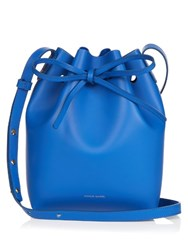 Mansur Gavriel Mini Leather Bucket Bag Blue