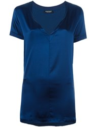 Twin Set V Neck T Shirt Blue