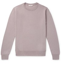 The Row Benji Slim Fit Cashmere Sweater Lilac