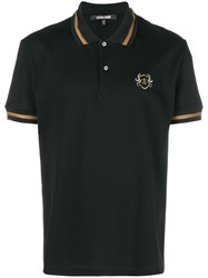 Roberto Cavalli Embroidered Logo Polo Shirt Black