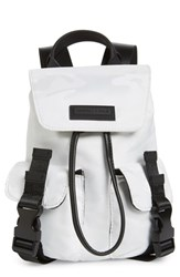 Kendall Kylie Mini Parker Water Resistant Backpack White White Camo