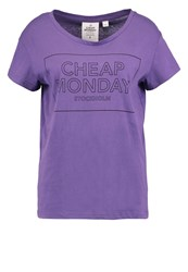 Cheap Monday Have Print Tshirt Dusty Purple