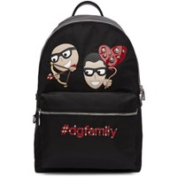 Dolce And Gabbana Black Cupid Family Backpack