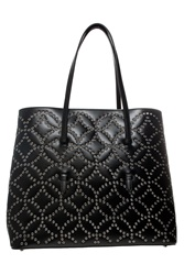 Azzedine Alaia Rivet Circle Leather Bag Black