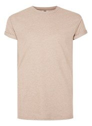 Topman Brown Salt And Pepper Muscle Fit Roller T Shirt