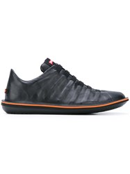 Camper Lace Up Sneakers Men Calf Leather Leather Rubber 42 Black