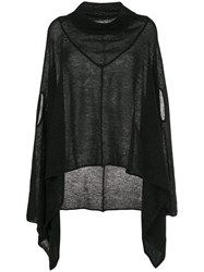 Taylor Oversized Asymmetric Jumper Black