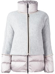 Fay Zipped Puffer Jacket Grey