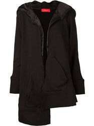 Undercover Asymmetric Hooded Jacket Black