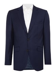 Simon Carter Sharkskin Peak Jacket Navy