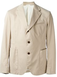 Al Duca D'aosta 1902 Patch Pocket Blazer Nude And Neutrals