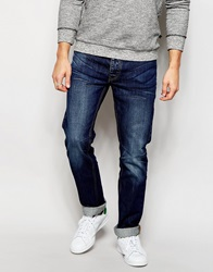 Bellfield Stone Washed Jeans In Slim Fit Navy