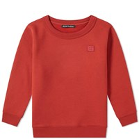 Acne Studios Mini Fairview Face Crew Sweat Red