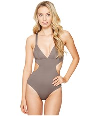 Vitamin A Ava Maillot Full Mineral Ecolux Women's Swimsuits One Piece Gray