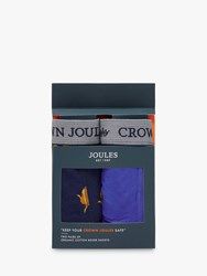 Joules Crown Boxer Shorts Pack Of 2 Blue Cockrel