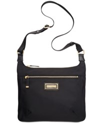 Calvin Klein Nylon Messenger Bag Black Gold