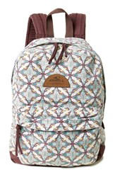 O'neill Shoreline Print Backpack Black Vanilla