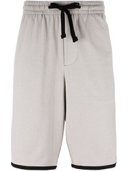 James Perse Stripe Detail Track Shorts Nude Neutrals
