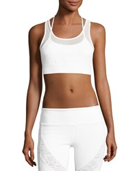 Alo Yoga Glare Layered Sports Bra White