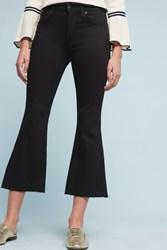Anthropologie James Jeans Kiki High Rise Flared Ankle Petite Jeans Black