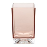 Kartell Square Toothbrush Holder Nude Pink