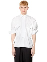 J.W.Anderson Patch Pocket Stretch Cotton Poplin Shirt
