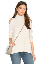 Sanctuary Cold Shoulder Turtleneck Ivory