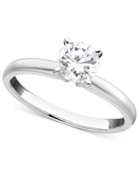Macy's Certified Diamond Solitaire Engagement Ring In 18K White Gold 3 4 Ct. T.W.