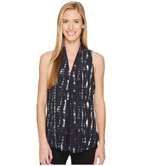 Lucy Transcend Sleeveless Fossil Hatchwork Print Women's Sleeveless Black