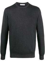 Cruciani Slim Fit Knitted Jumper Grey
