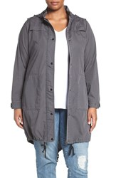 City Chic Plus Size Women's 'Caught Out' Hooded Utility Parka