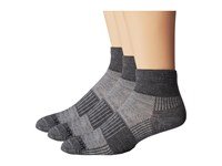 Wrightsock Merino Coolmesh Quarter 3 Pack Grey White Quarter Length Socks Shoes Gray