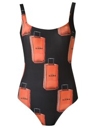 Amir Slama Printed Swimsuit Black