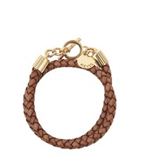 Reiss Toucan Leather And Metal Bracelet In Tan
