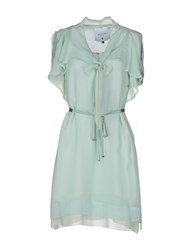 Tricot Chic Short Dresses Light Green