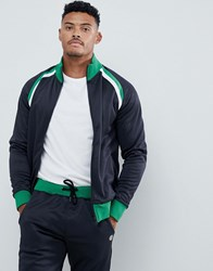 Blend Of America Contrast Track Top Co Ord In Navy