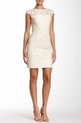 Julia Jordan Laser Cut Vegan Leather Dress White