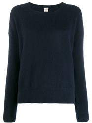 Massimo Alba Scoop Neck Knitted Jumper Blue