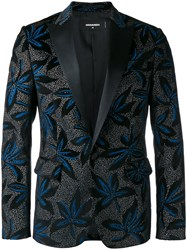 Dsquared2 Brooch Pattern Dinner Jacket Black