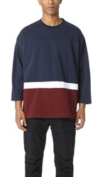 White Mountaineering Big Silhouette Contrast Tee Navy
