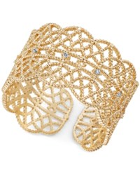 Inc International Concepts Crystal Studded Filigree Ring Created For Macy's Gold