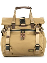 As2ov Double Buckle Tote Brown