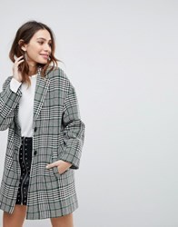 Stradivarius Premium Check Tailored Coat Multi