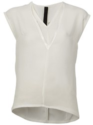 Ilaria Nistri V Neck Tank Top White