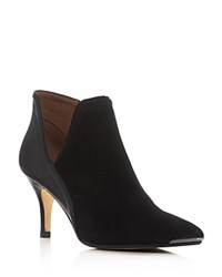 Donald J Pliner Talia Cutout High Heel Booties Black