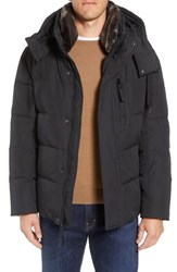 Marc New York Baltic Faux Fur Trim Down And Feather Fill Parka Black