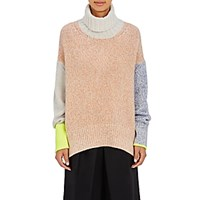 Tomorrowland Women's Colorblocked Turtleneck Sweater No Color