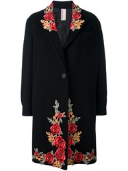 Antonio Marras Floral Patch Coat Black